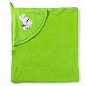 Полотенце с уголком и рукавицей, размер 90х90, цвет светло-зеленый, махра, хл100% Ош