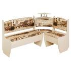 Кухонный уголок Город стандарт 1500х1000х730 Дуб млечный/микровелюр