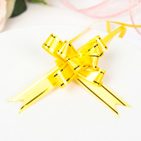 Бант-бабочка №1,2 золотая полоса, желтый Ош