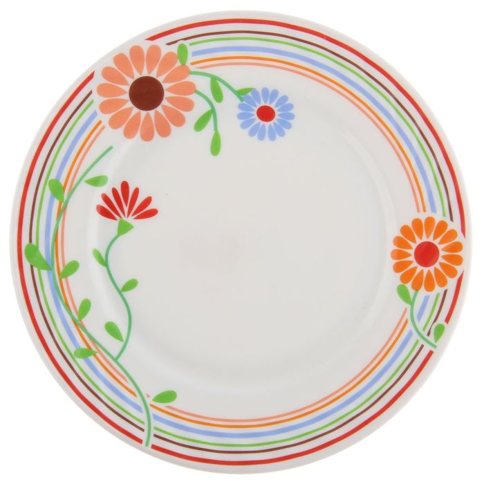 """Тарелка обеденная 23 см """"Море эмоций"""", опаловое стекло"""