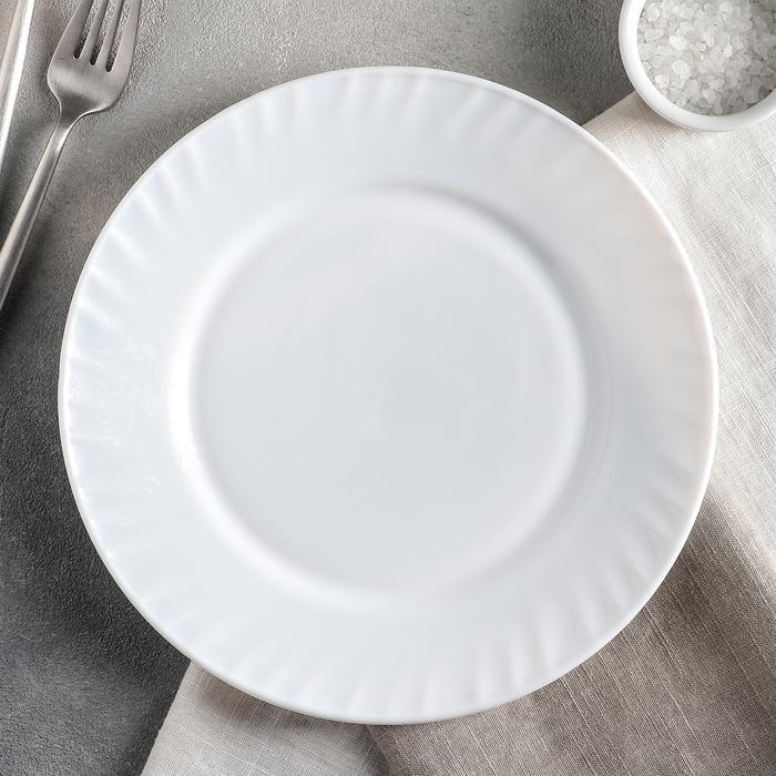 """Тарелка обеденная 23 см """"Регал"""", опаловое стекло"""