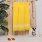 Полотенце пештемаль Turkish towel 70х140 см, желтый, 330г/м2, хлопок 100%