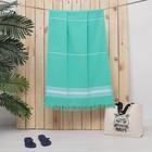 Полотенце пештемаль Turkish towel 70х140 см, мятный, 330г/м2, хлопок 100%