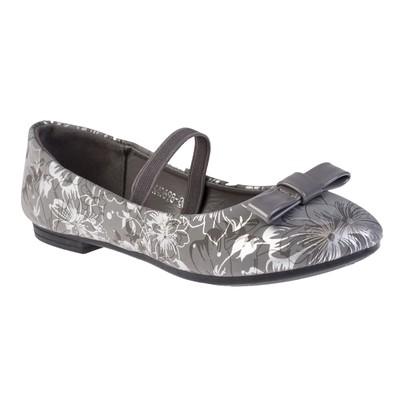 Балетки для девочки арт. BLK40698-06, цвет серый, размер 33