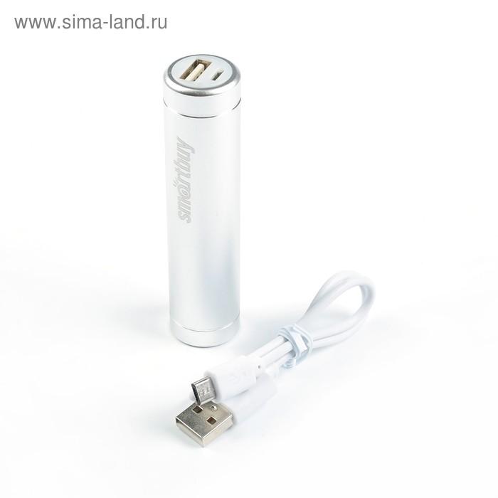 Внешний аккумулятор Smartbuy EZ-BAT PRO, 2500 мАч, 1А, цвет серебро