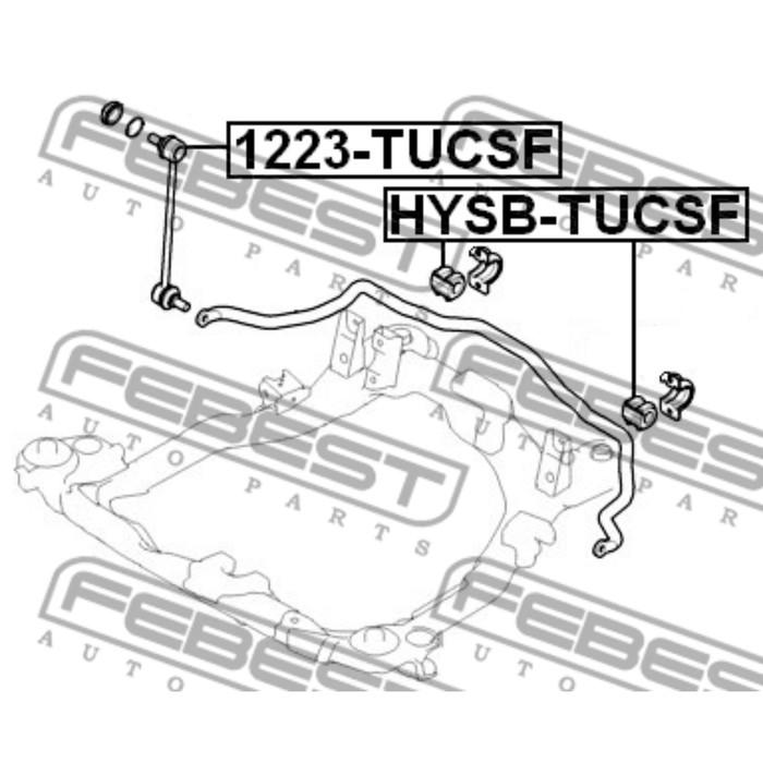Тяга стабилизатора передняя febest 1223-tucsf