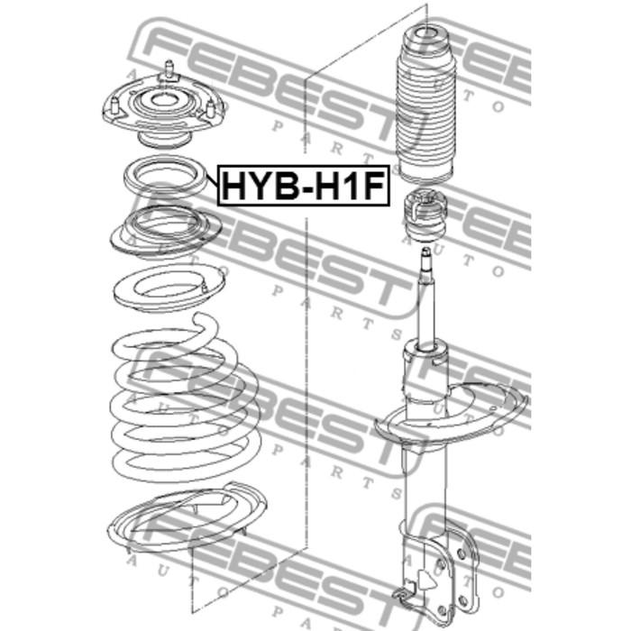 Подшипник опоры переднего амортизатора febest hyb-h1f