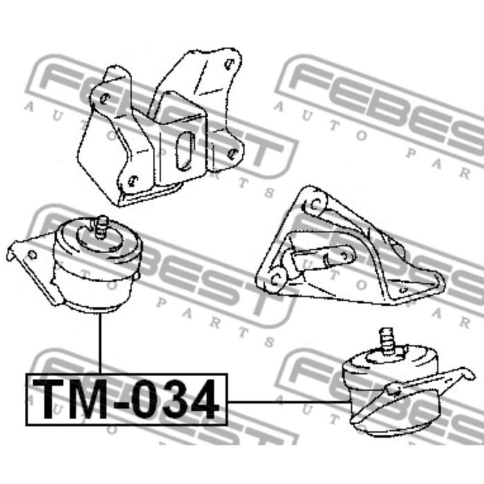 Подушка двигателя передняя (гидравлическая) febest tm-034