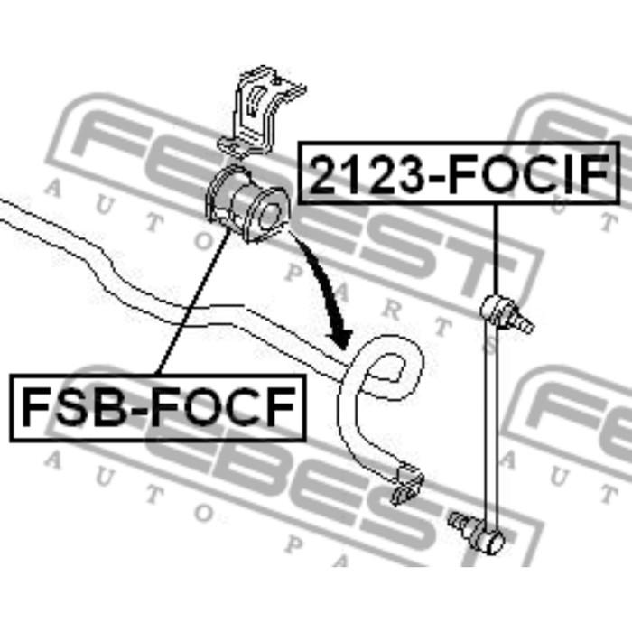 Втулка переднего стабилизатора d18.3 febest fsb-focf