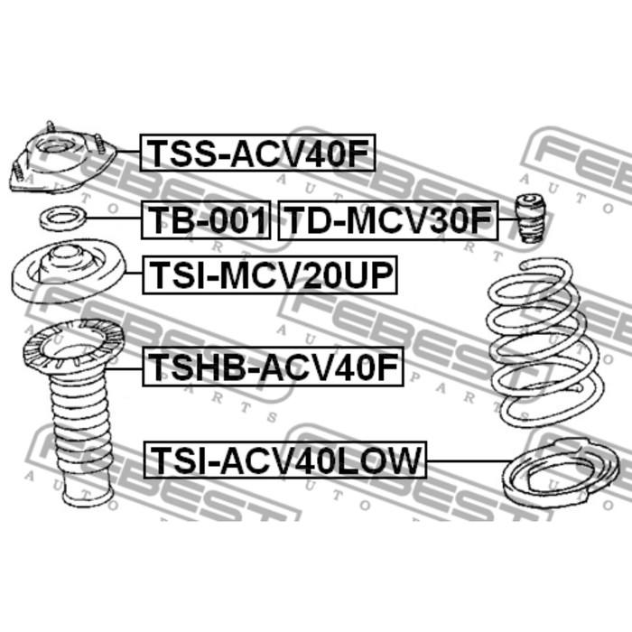 Пыльник переднего амортизатора febest tshb-acv40f