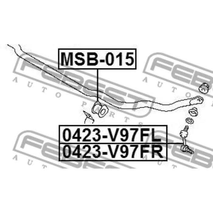 Втулка переднего стабилизатора d29 febest msb-015