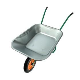 Тачка садовая, одноколесная (пневмоколесо, груз/п 90 кг, объем 65 л,)