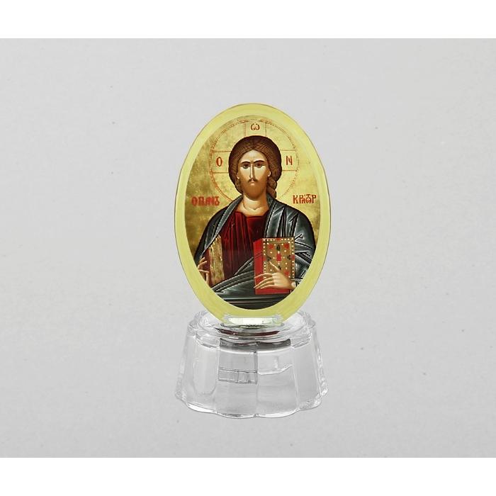 """Икона """"Иисус Христос"""" со светодиодом, овальная"""