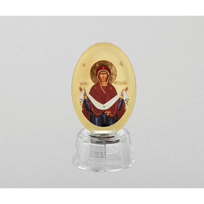 """Икона """"Покров Пресвятой Богородицы"""" со светодиодом, овальная"""