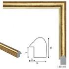 Багет пластиковый 14мм*15мм*2.9м (Ш*В*Д) 1415-03-G коричневый с золотым