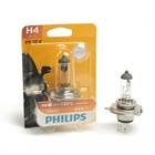 Автолампа PHILIPS Vision +30%, H4 (P43t-38), 12 В, 60/55 Вт. блистер 12342 PR B1   Уценка