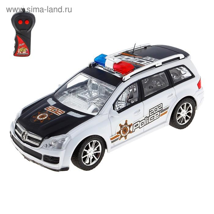 """Машина радиоуправляемая """"Полиция"""", масштаб 1:24, световые и звуковые эффекты, цвета МИКС"""