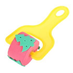 Ролик детский для краски 'Елочка', цвета МИКС Ош