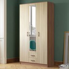 Шкаф 3-х дверный Трио, Ясень шимо светлый/Ясень шимо темный