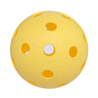 "Мяч для флорбола ""RealStick"", арт.MR-MF-Va, пластик с углубл., IFF Approved желтый"