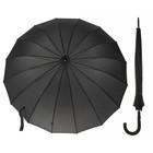 Зонт-трость, R=52см, цвет чёрный