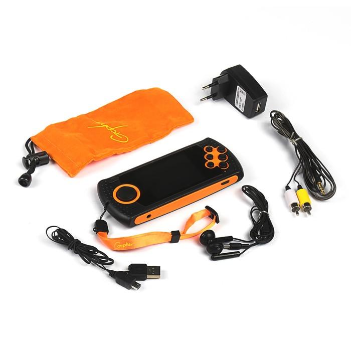 """Игровая приставка SEGA Genesis Gopher Wireless LCD 2.8"""", ИК-порт, 20 игр, оранжевая"""