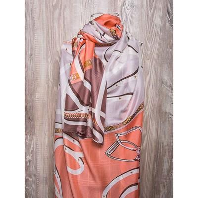 Платок женский, размер 180х90 см, цвет коралловый K02P2606