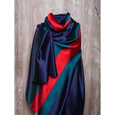 Платок женский, размер 180х90 см, цвет тёмно-синий K02P2612