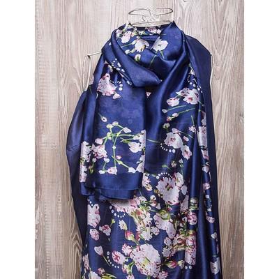 Платок женский, размер 180х90 см, цвет синий K02P2626