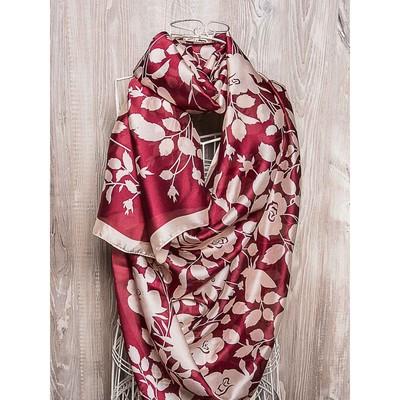 Платок женский, размер 180х90 см, цвет бордовый  K01P2515