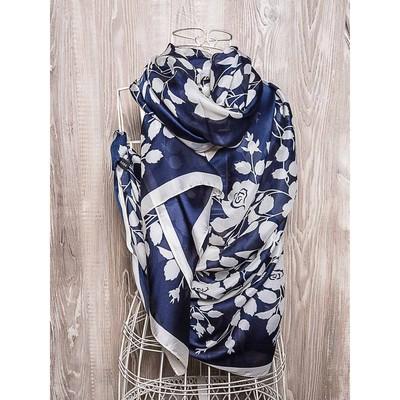 Платок женский, размер 180х90 см, цвет синий  K01P2514