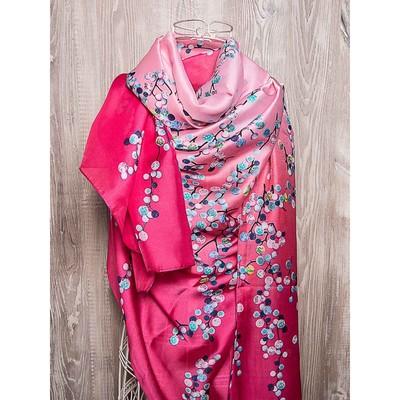 Платок женский, размер 180х90 см, цвет розовый  K01P2551