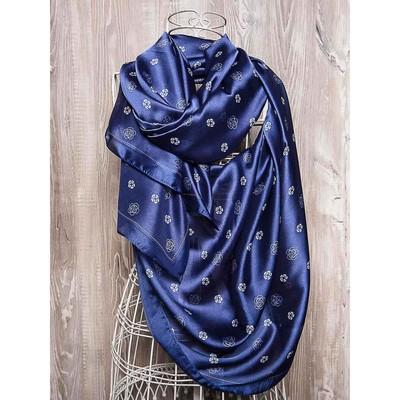 Платок женский, размер 180х90 см, цвет синий K01P25149