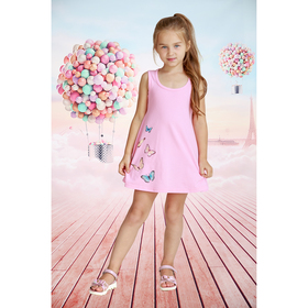 Платье детское Стайл, рост 140 см, цвет розовый ДПл-001