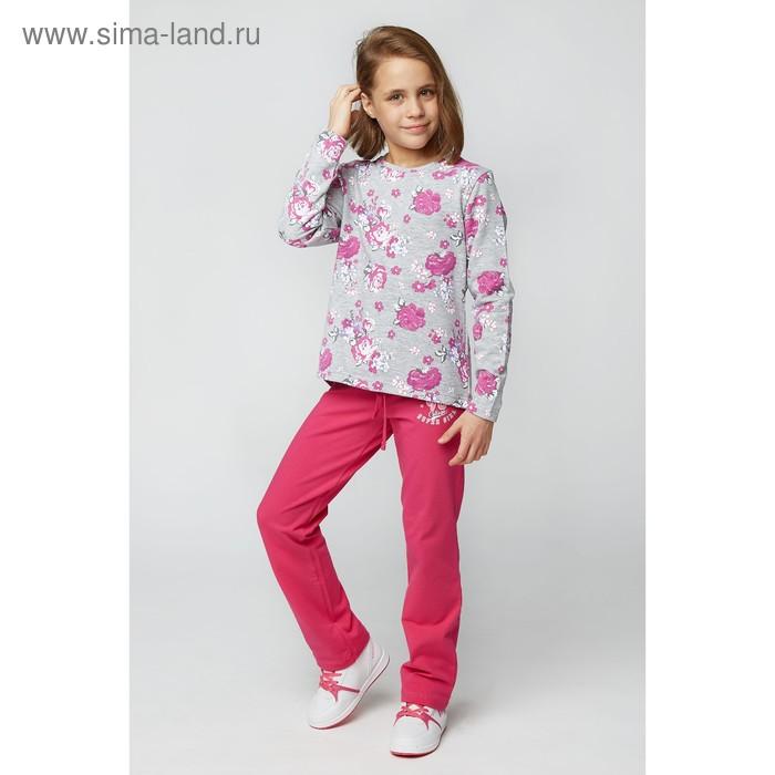 Свитшот для девочки , рост 104 см, цвет принт цветы ТД 0072.6-3