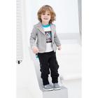 Пиджак для мальчика, рост 98 см, цвет  цвет серый/белый Н-ПЖ-276