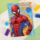 """Аппликация пайетками """"Супер-герой"""" Человек-паук + 4 цвета пайеток"""
