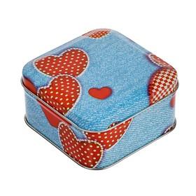 Подарочная коробка 'Джинс', 7.6 х 7.6 см, v-0,18 Ош