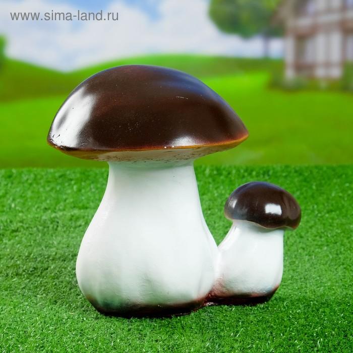 """Садовая фигура """"Пара грибов боровиков"""" средняя"""