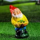 "Садовая фигура ""Гном-садовник"" жёлтый кафтан"