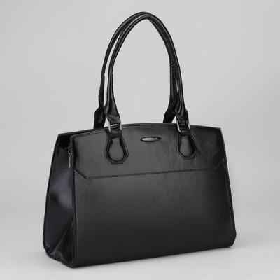 Сумка жен L-8783, 34*12*24, отд с перег на молнии, н/карман, черный
