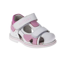 Сандалии детские арт. SС-23036, цвет белый/розовый, размер 25