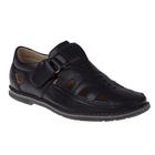 Туфли открытые для школьников мальчиков арт. SB-24439 (чёрный) (р. 31)