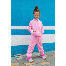 Спортивный костюм из велюра MINAKU, рост 86-92 см, цвет розовый Ош