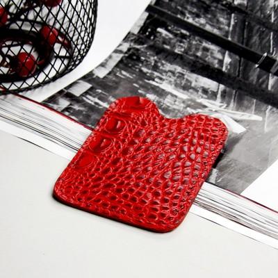 Визитница, кайман, цвет красный