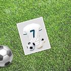 Открытка мини–формата одинарная «Знаменитость», футбол, 9 х 10 см