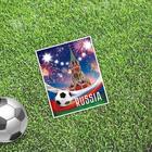 Открытка мини–формата одинарная «Москва», футбол, 9 х 10 см