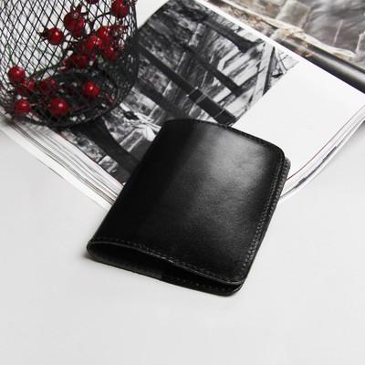 Обложка для паспорта, анилин чёрный