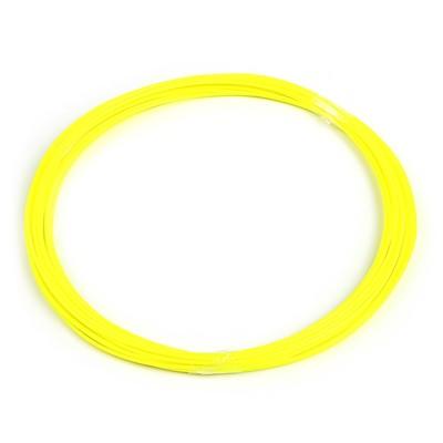Пластик PLA, для 3Д ручки, длина 10 м, желтый - светится в темноте (УФ лучах)