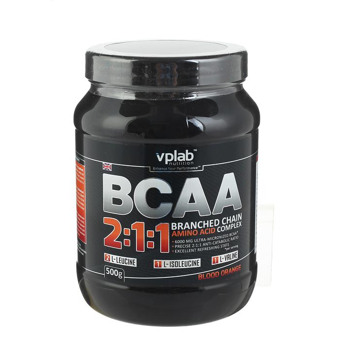 Аминокислоты BCAA 2:1:1 VPLab, красный апельсин, 500 г